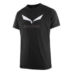 T-shirty męskie: Salewa Koszulka męska Solidlogo Black Out Melange r. XL (27018-0936)