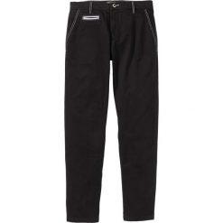 Chinosy męskie: Spodnie chino ze stretchem Regular Fit bonprix czarny