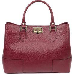 """Torebki klasyczne damskie: Skórzana torebka """"Jeanne"""" w kolorze czerwonym – 34 x 26 x 12 cm"""