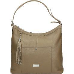 Torba - 4-224-O D TAU. Żółte torebki klasyczne damskie marki Venezia, ze skóry. Za 265,00 zł.