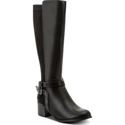 Kozaki JENNY FAIRY - WS17009 Czarny. Czarne buty zimowe damskie Jenny Fairy, z materiału. Za 149,99 zł.