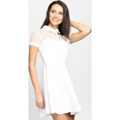 Sukienki hiszpanki: Biała Sukienka Look At Me