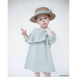 Sukienka z falbanką, BLUE STRIPES. Czarne sukienki dziewczęce z falbanami marki Blukids, z nadrukiem, z bawełny. Za 85,00 zł.