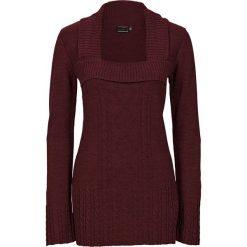 Swetry damskie: Sweter dzianinowy bonprix ciemnobrązowy
