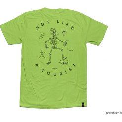 """Koszulka NOT LIKE A TOURIST """"GREEN GREEN. Zielone bralety Pakamera, z bawełny, klasyczne, z klasycznym kołnierzykiem. Za 79,00 zł."""