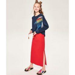 Długa spódnica dresowa - Czerwony. Czerwone długie spódnice marki Reserved, z dresówki. W wyprzedaży za 24,99 zł.