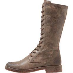 Felmini CREPONA Kozaki sznurowane noumerat tobacco. Szare buty zimowe damskie Felmini, z materiału. W wyprzedaży za 318,45 zł.