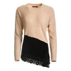 Swetry klasyczne damskie: Desigual Sweter Damski Reia S Różowy