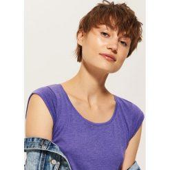 T-shirt basic - Fioletowy. Fioletowe t-shirty męskie marki House, l. Za 17,99 zł.