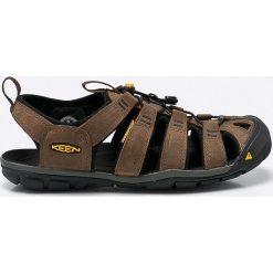 Keen - Sandały Clearwater Cnx. Brązowe sandały męskie skórzane marki Keen, z okrągłym noskiem. W wyprzedaży za 319,90 zł.