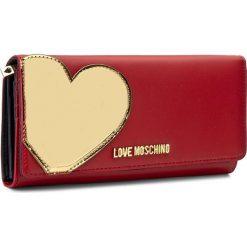 Portfele damskie: Duży Portfel Damski LOVE MOSCHINO – JC5514PP14LD250A  Rosso/Oro
