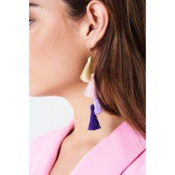 Kolczyki damskie: NA-KD Boho Kolczyki chwosty – Purple,Multicolor