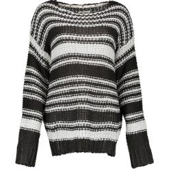 Swetry klasyczne damskie: Sweter w kolorze czarno-białym