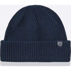 Gant - Czapka. Czarne czapki zimowe męskie GANT, na zimę, z bawełny. W wyprzedaży za 119,90 zł.