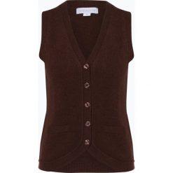 Brookshire - Damska kamizelka dzianinowa, brązowy. Czarne kamizelki damskie marki brookshire, m, w paski, z dżerseju. Za 129,95 zł.