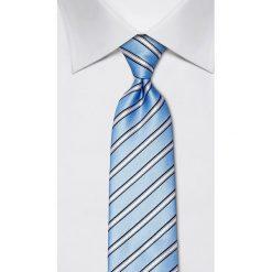Krawaty męskie: Jedwabny krawat w kolorze błękitnym – szer. 8 cm