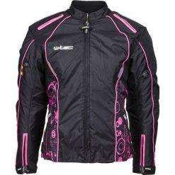 Kurtki damskie: W-TEC Damska kurtka motocyklowa NF-2406 Kolor czarno-różowe grafiki, Rozmiar XS (12031)