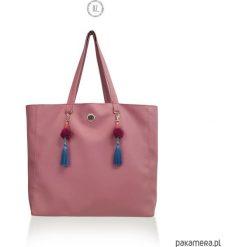 Torba XL ROSITA shopper, ekoskóra. Różowe shopper bag damskie Pakamera, duże. Za 189,00 zł.