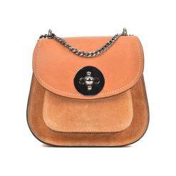 Torebka w kolorze koniaku - (S)19 x (W)16,5 x (G)10 cm. Brązowe torebki klasyczne damskie Bestsellers bags, w paski, z materiału. W wyprzedaży za 199,95 zł.