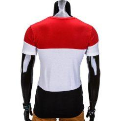 T-SHIRT MĘSKI BEZ NADRUKU S836 - CZERWONY. Czerwone t-shirty męskie z nadrukiem Inny, m. Za 29,00 zł.