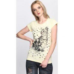Bluzki, topy, tuniki: Żółty T-shirt Felinity