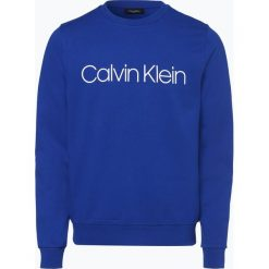 Calvin Klein - Męska bluza nierozpinana, niebieski. Pomarańczowe bluzy męskie rozpinane marki Calvin Klein, l, z bawełny, z okrągłym kołnierzem. Za 379,95 zł.