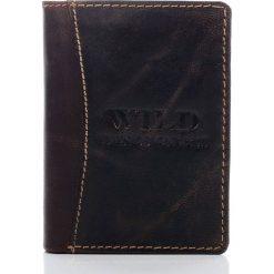 Portfel Męski Wild - skóra naturalna. Czarne portfele męskie Wild, ze skóry. Za 69,00 zł.