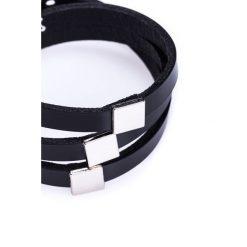 Bransoletki damskie na nogę: Czarna bransoletka z eleganckim zdobieniem BIALCON