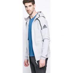 Adidas Performance - Bluza. Szare bejsbolówki męskie adidas Performance, l, z nadrukiem, z bawełny, z kapturem. W wyprzedaży za 269,90 zł.