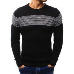 Swetry klasyczne męskie: Sweter męski czarny (wx0905)