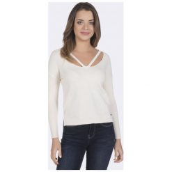 Giorgio Di Mare Sweter Damski S Biały. Białe swetry klasyczne damskie marki Giorgio di Mare, s. W wyprzedaży za 125,00 zł.