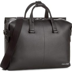 Torba na laptopa CALVIN KLEIN - Double Tack Laptop B K50K503459 001. Czarne plecaki męskie marki Calvin Klein, ze skóry. W wyprzedaży za 679,00 zł.