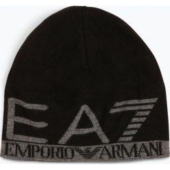 EA7 Emporio Armani - Dwustronna czapka męska, czarny. Czarne czapki męskie EA7 Emporio Armani, z napisami, z dzianiny, eleganckie. Za 249,95 zł.