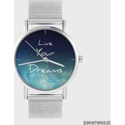 Biżuteria i zegarki: Zegarek - Live Your Dreams - metalowy