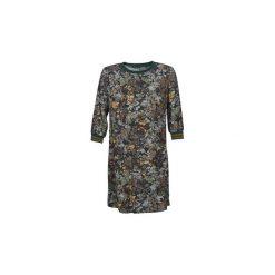 Sukienki krótkie Sisley  FAZED. Szare sukienki hiszpanki Sisley, z krótkim rękawem, mini. Za 419,00 zł.
