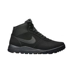 Buty Nike Hoodland Suede (654888-090). Czarne halówki męskie Nike, na zimę, ze skóry, outdoorowe. Za 329,99 zł.