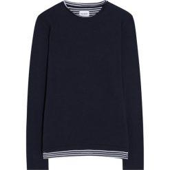 Swetry klasyczne męskie: Sweter z wszytą koszulką w paski