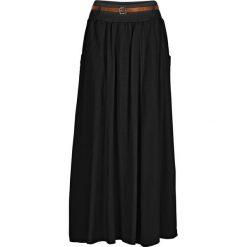 Spódnica bonprix czarny. Białe długie spódnice marki QUIOSQUE, s, z haftami, z tkaniny, dopasowane. Za 89,99 zł.
