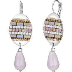 Kolczyki damskie: Kolczyki ze szklanymi kryształkami