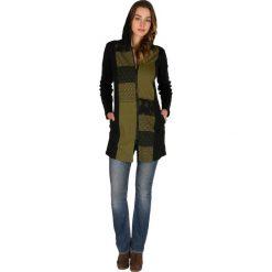 Bluzy rozpinane damskie: Bluza w kolorze czarno-oliwkowym