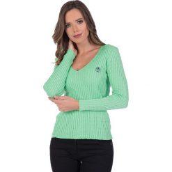 """Swetry klasyczne damskie: Sweter """"Deuce"""" w kolorze miętowym"""