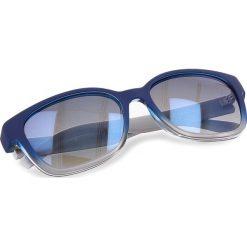 Okulary przeciwsłoneczne BOSS - 0251/S Blue SWW. Niebieskie okulary przeciwsłoneczne damskie lenonki marki Boss, z tworzywa sztucznego. W wyprzedaży za 429,00 zł.