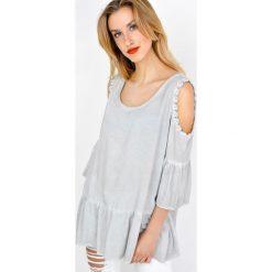 Bluzki damskie: Bluzka koszulowa z rozcięciami