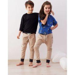 Spodnie z wysokim stanem: Spodnie baggy KARMEL