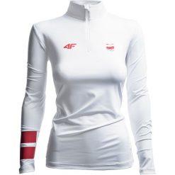 Bluzy damskie: Bluza funkcyjna damska Polska Pyeongchang 2018 TSDLF900 – biały