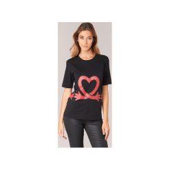 T-shirty z krótkim rękawem Love Moschino  W4F1541M3517. Czarne t-shirty damskie Love Moschino, m. Za 383,20 zł.