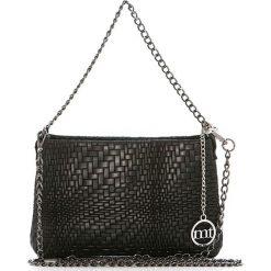 Torebki klasyczne damskie: Skórzana torebka w kolorze czarnym – 26 x 16 x 4 cm