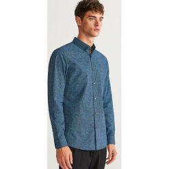 Wzorzysta koszula slim fit - Czarny. Czarne koszule męskie slim Reserved, l. Za 99,99 zł.