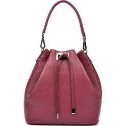 Torebki klasyczne damskie: Skórzana torebka w kolorze bordowym – (S)30,5 x (W)42 x (G)16 cm
