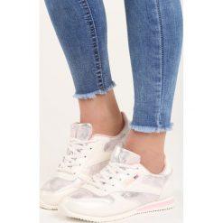 Buty sportowe damskie: Białe Buty Sportowe Silver Dust